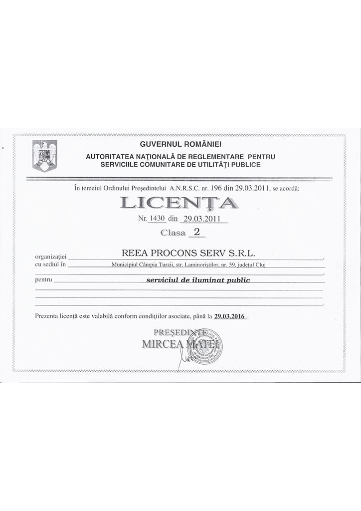 Licenta ANRSC